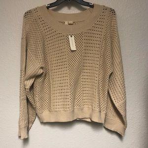 "Anthropologie NWT - ""Moth"" crochet sweater"